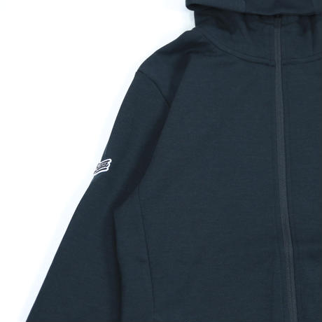 LOGO ZipUp Hooded Jersey [BLACK]