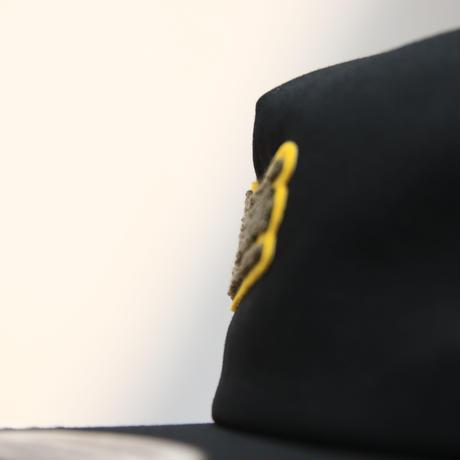MOCO LOGO Unstructured 5-Panel Snapback [BLACK]
