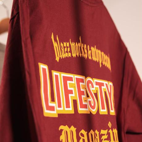 LIFESTYLE MGZN CREW L/S TEE [WINE]