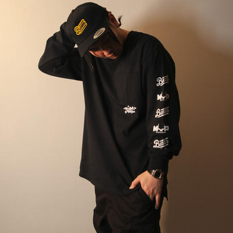LIFESTYLE MGZN L/S POCKET TEE [BLACK]