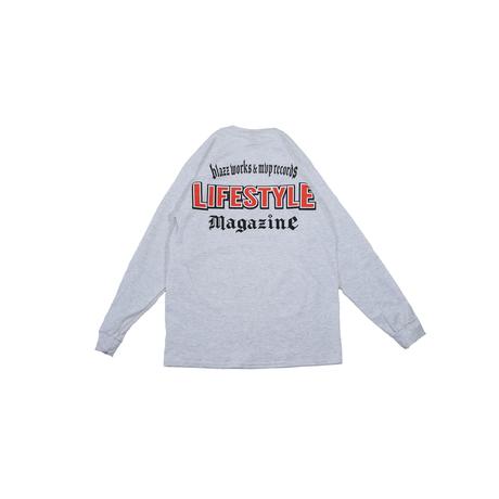 LIFESTYLE MGZN CREW L/S TEE [ASH]