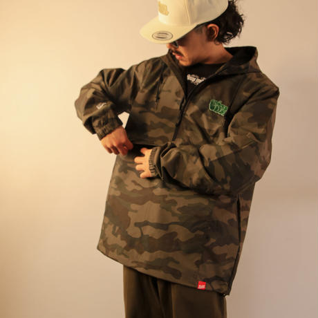 BLAZZ by IRA Water Resistant Windbreaker Anorak [CAMO]