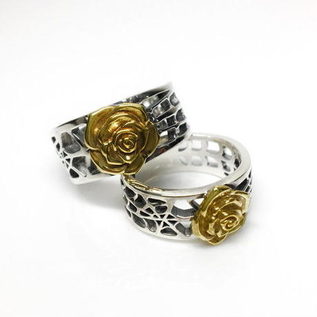 SPIDER WEB RING L SILVER&BRASS / スパイダー ウェブリング  L SILVER&真鍮