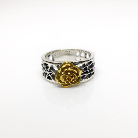 SPIDER WEB RING M SILVER&BRASS / スパイダー ウェブリング  M SILVER&真鍮