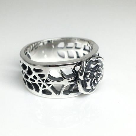 SPIDER WEB RING L SILVER / スパイダー ウェブリング  L SILVER