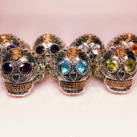 BF SKULL RING ST COMBINATION L / BF スカルリングSTコンビ L