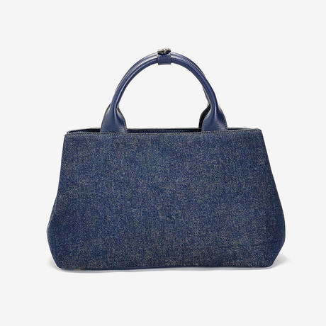 BLEUET M TOTE BAG  / MICHELLE【DENIM BLUE x NAVY BLUE】
