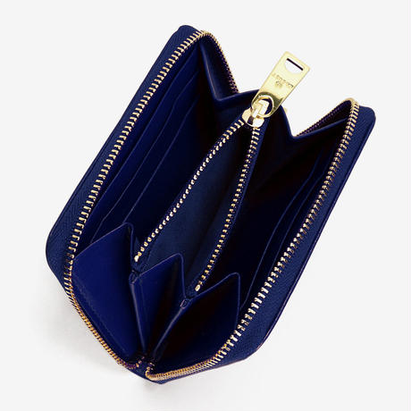 BLEUET MINI ZIPPER WALLET【NAVY BLUE】