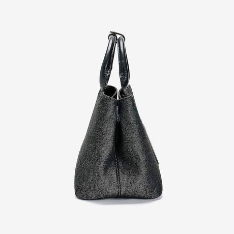 BLEUET M TOTE BAG  / MICHELLE【DENIM BLACK x BLACK】
