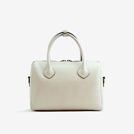 BLEUET MINI BOSTON BAG【WHITE】
