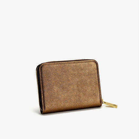 BLEUET MINI ZIPPER WALLET【BRONZE】