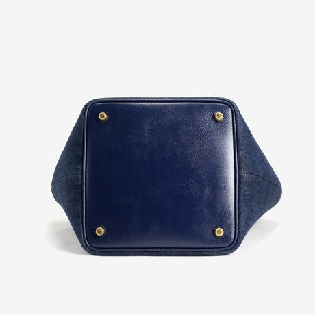 BLEUET M TOTE BAG / ANEMOI【DENIM x NAVY BLUE】