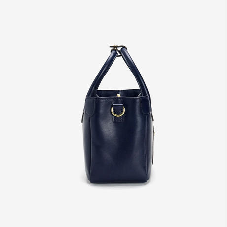 BLEUET MINI TOTE BAG【NAVY BLUE】