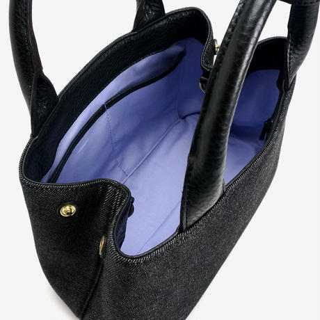 BLEUET MINI TOTE BAG  / MICHELLE【DENIM  BLACK x BLACK】