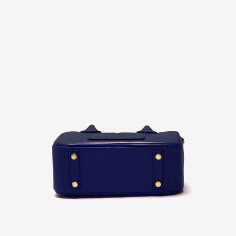 BLEUET MINI BOSTON BAG / BOX【NAVY BLUE】
