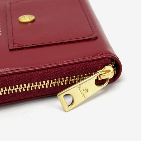 BLEUET MINI ZIPPER WALLET【VINTAGE WINE】