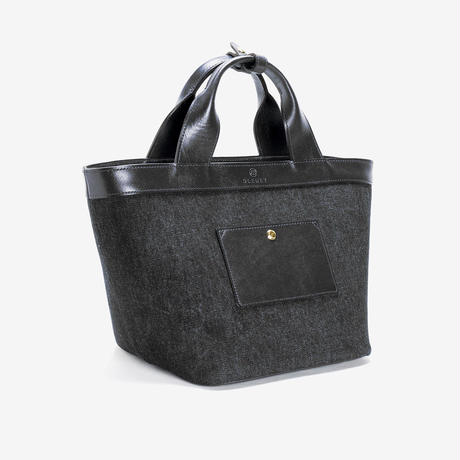 BLEUET M TOTE BAG / ANEMOI【DENIM BLACK x BLACK】