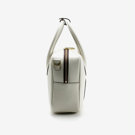 BLEUET M BOSTON BAG / BOX【WHITE】