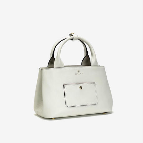 BLEUET MINI TOTE BAG / MICHELLE【WHITE】
