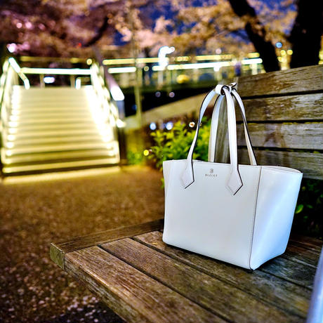 BLEUET MINI TOTE BAG  / CARMEN【WHITE】