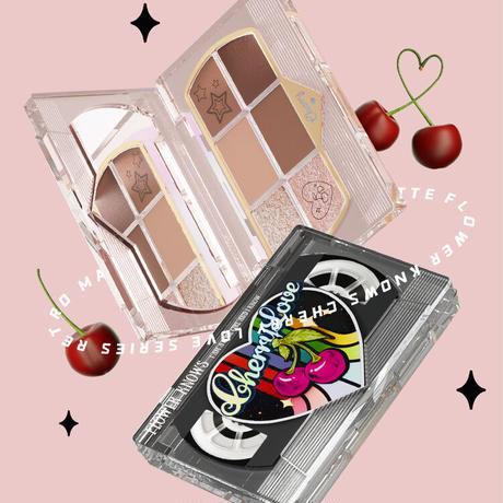 フラワーノーズ Cherry Love レトロマグネティック アイシャドウパレット