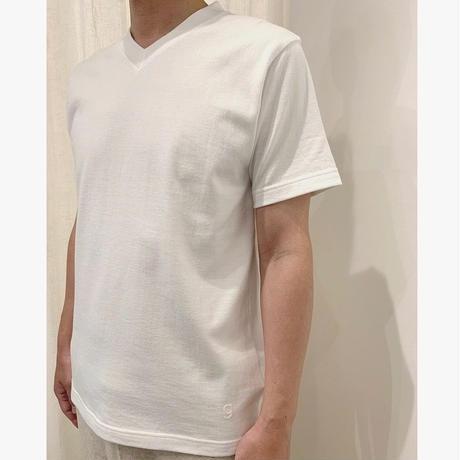 MENS スーピマ吊天竺VネックTシャツ