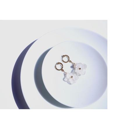 紫陽花のイヤリング