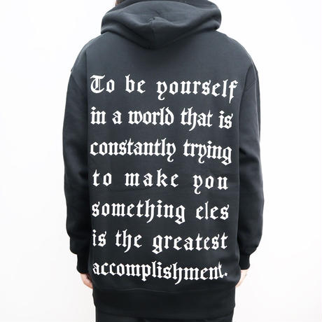 OLD ENGLISH BACK PRINT HOODIE