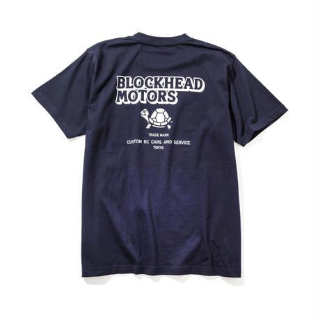 BLOCKHEAD MOTORSスタンダードTシャツ/ネイビー