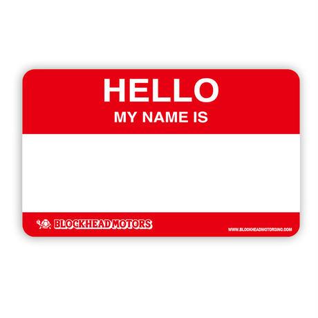 HELLO MY NAMEステッカー3枚セット