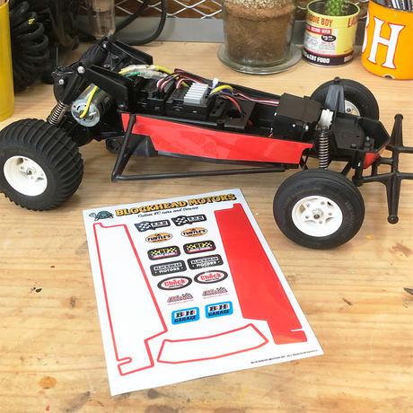 シャーシ用デカールセット:レッド(ホーネット・グラスホッパー用)Decal set for side chassis : Red/ Tamiya Hornet, Grasshopper