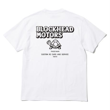 BLOCKHEAD MOTORSスタンダードTシャツ/ホワイト
