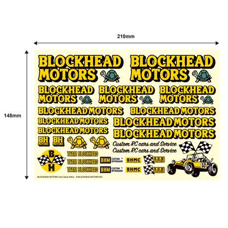 BLOCKHEAD MOTORS デカールシート イエロー/ Decal sheet Yellow