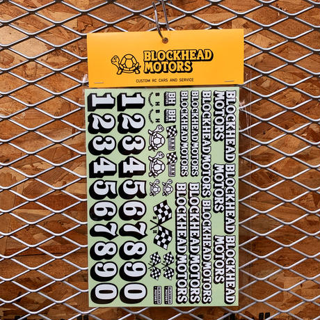 BLOCKHEAD MOTORS オリジナルデカールシート Ver.2 / Original decal sheet Ver.2