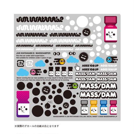 MASS DAMPER x JUN WATANABE ミニ四駆用デカール(おまけステッカー付)