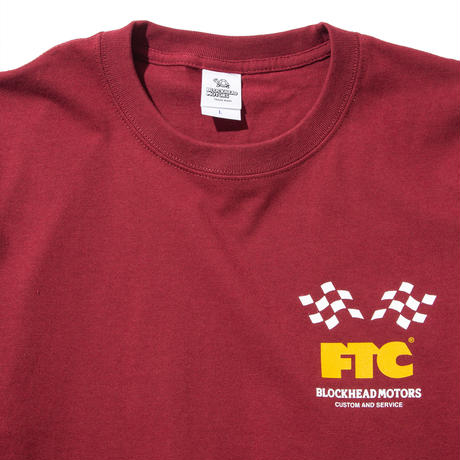 FTC x BLOCKHEAD MOTORS T-SHIRT BURGUNDY