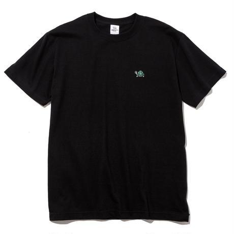 刺繍ワンポイントTシャツ(ブラック)