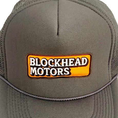 BLOCKHEAD MOTORSメッシュキャップ02/刺繍ロゴ