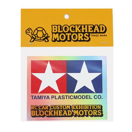 TAMIYA x  BLOCKHEAD MOTORS ホログラムステッカー