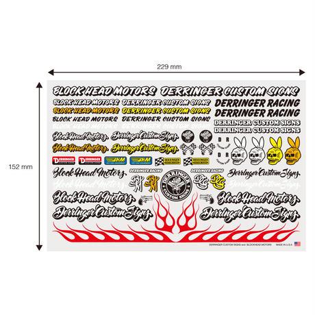 Derringer Custom Signs  x BLOCKHEAD MOTORS  デカールシート