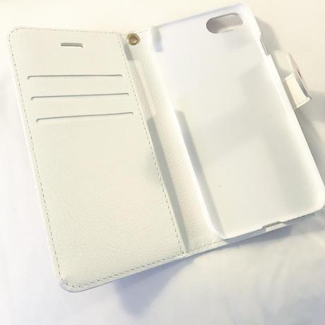 【受注商品】黒リボンハート手帳型ケース