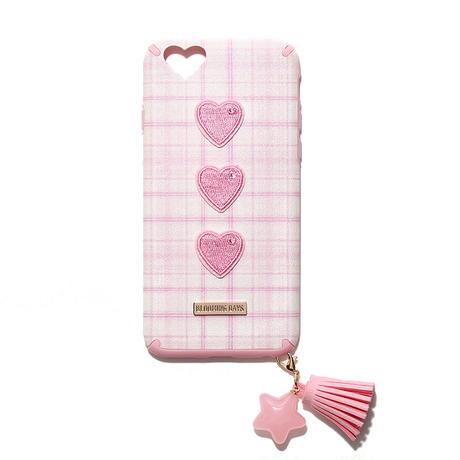 ストラップ付ピンクハートケース