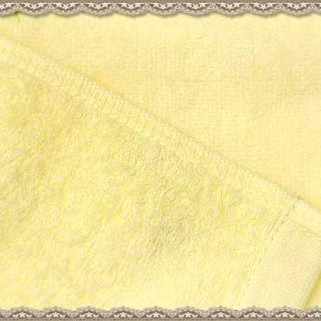 ■フレームローズ フェイスタオル ピンク/イエロー 【薔薇雑貨 風呂 綿 バス用品 桃色 薔薇 バラ 花柄 フェイスタオル 小花柄 刺繍 額】