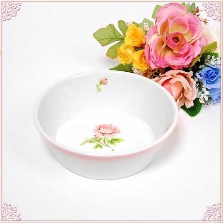 ■プラン・ド・パリ ジュリアン フードボウル【ペット 薔薇雑貨 ピンク ローズ バラ フードボール 洋食器】