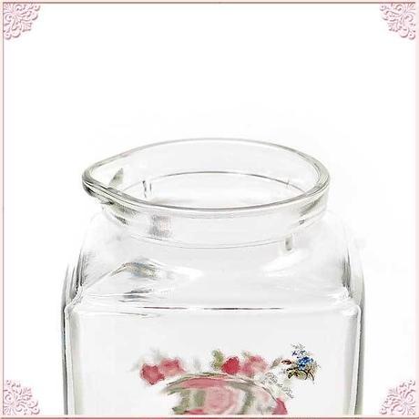 ■プラン・ド・パリ アンジェリカ ドアポケットストック 900cc【冷水筒 ガラスピッチャー 花柄 ガラス容器 保存容器 ドアポケットサイズ】
