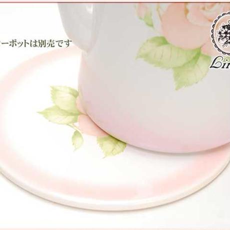 ■Lindy(リンディ)ボヌール 陶器製 鍋敷き【薔薇雑貨 姫系 プリンセス ピンクローズ バラ まな板立て クリーム アイボリー】