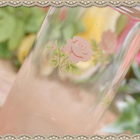 ■プラン・ド・パリ ジュリアン フタ付き ガラスソース差し 【ピンク 薔薇 ローズ ソース 調味料入れ ガラス ピンクローズ 薔薇雑貨】