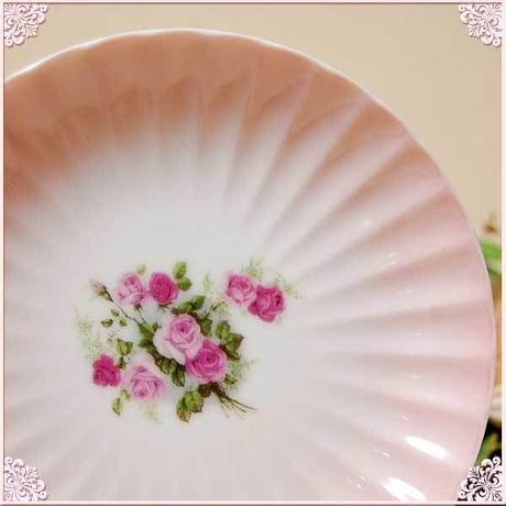 【新デザイン】■プラン・ド・パリ アンジェリカ おもてなし桃シリーズ 霞さくら 14.5cm小皿