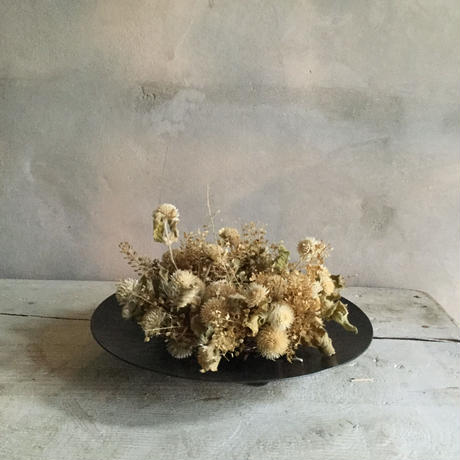 Dried Frower Mini Wreath With Iron Plate Type C (アイアンプレート付きミニリース C)