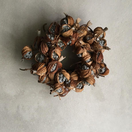 Dried Gettou Mini Wreath (月桃のミニリース)